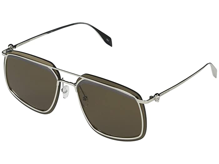 Alexander McQueen  AM0221SK (Silver) Fashion Sunglasses