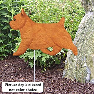 Michael Park GRIZZLE Norwich Terrier Garden Stake by