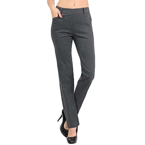 97a9a0022d3 VIV Collection New Women s Straight Fit Trouser Pull-On Pants