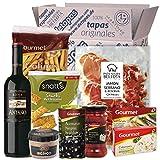 Präsentkorb - Tapas-Abend für Zwei I Tapas para dos I Geschenk für Feinschmecker und Spanienfans | Spezialitäten aus Spanien | Geschenk für Männer & Frauen