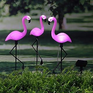 Solarbetriebene rosa Flamingo-Verzierungsgarten-Außenlicht-Rasenlandschaftslampe