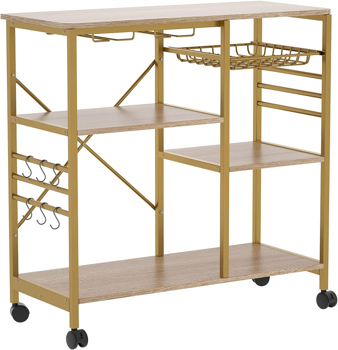 store Microwave Stand Bakers Rack 4-Tier+3-Tier Wine with Jacksonville Mall and 6 Hooks