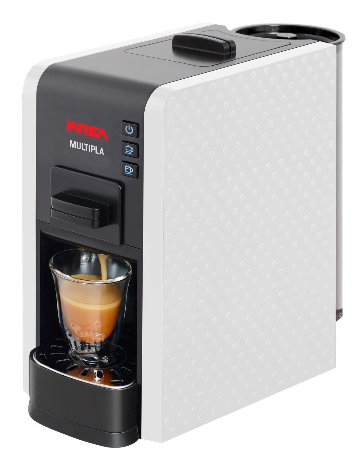 KREA ES200W - Cafetera (Independiente, Máquina espresso, 1 L, Dosis de café, De café molido, Negro, Blanco): Amazon.es: Hogar