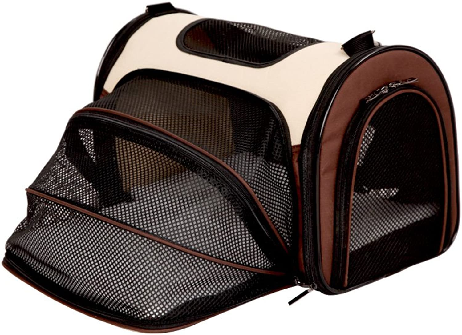 MEI Pet Backpacks Lightweight Pet Carrier Crate, Pet Bag, Easy to Carrry (color   Brown, Size   M)