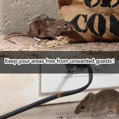 Angveirt Under Hood Rodent Repeller Battery Operated Rodent Pest Repellent Mouse Rat Squirrel Repeller Electronic Ultrasonic