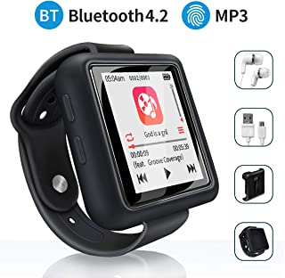Mymahdi Sport Music Clip, 8GB Bluetooth MP3 Player with FM Radio/Voice Record Function,Touch Screen Player,Max Support up ...