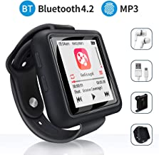 Mymahdi Sport Music Clip, 8GB Bluetooth MP3 Player with FM Radio/Voice Record Function,Touch Screen Player,Max Support up to 128GB, Black