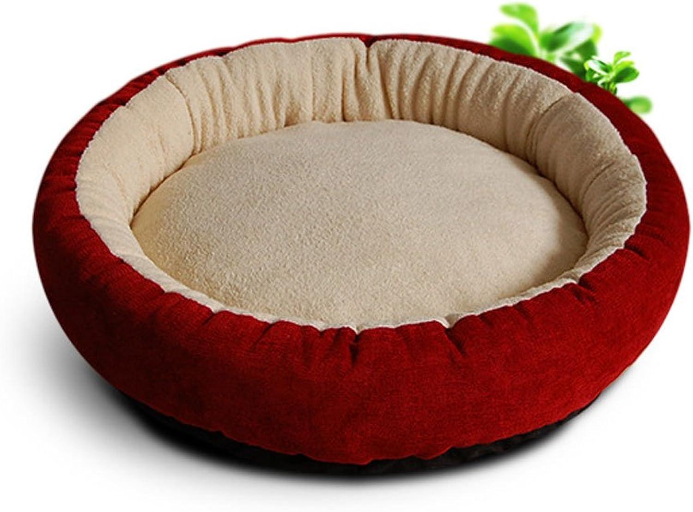 RKY Round Pet Bed Dog Mat Pet Mat Medium Small Dog Pet Sleeping Pad Cat Dog Nest Pet Supplies Soft sleeping pad (color   B, Size   Diameter 45cm)
