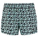 PUMA Swim Men's Wave all-Over-Print Short Swimming Shorts Trunks, Blu, XL Uomo