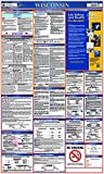 NMC LLP-WI Labor Law Poster – Wisconsin, 24 in. x 40 in, Laminated Paper Poster for State/Federal Regulations, Health Safety Information, Employee Rights
