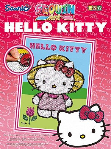 Sequin Art Hello Kitty Motif Jardin