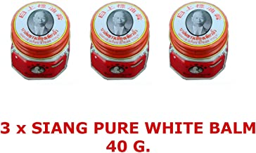 3 x White Balm herbal ointment pains SIANG PURE 40 grams