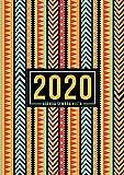 Agenda semana vista 2020: Del 1 de enero de 2020 al 31 de diciembre de 2020: Diario, organizador y planificador con vista semanal y mensual español: Patrón abstracto colorido 913-3