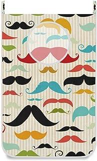 N\A Panier à Linge Suspendu Porte/Mur/Placard Moustache colorée Panier de Grand Sac à Linge Suspendu pour Organisateur de ...