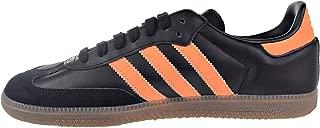 adidas Men's Samba OG Indoor Sneaker Shoes (9.5, Core Black/Hi-Res Orange/Gold Metallic)