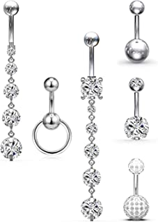 Best basic belly button rings Reviews