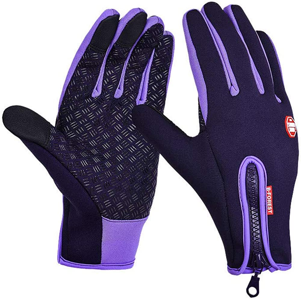 CdyBox Waterproof Touch Screen Gloves Anti-Slip Texting Outdoor Cycling Climbing Sport Mittens