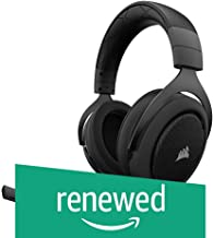 (Renewed) CORSAIR HS50 - Stereo Gaming Headset - Discord Certified Headphones - Works with PC, Mac, Xbox One, PS4, Nintendo Switch, iOS and Android(CA-9011170-AP) - Carbon