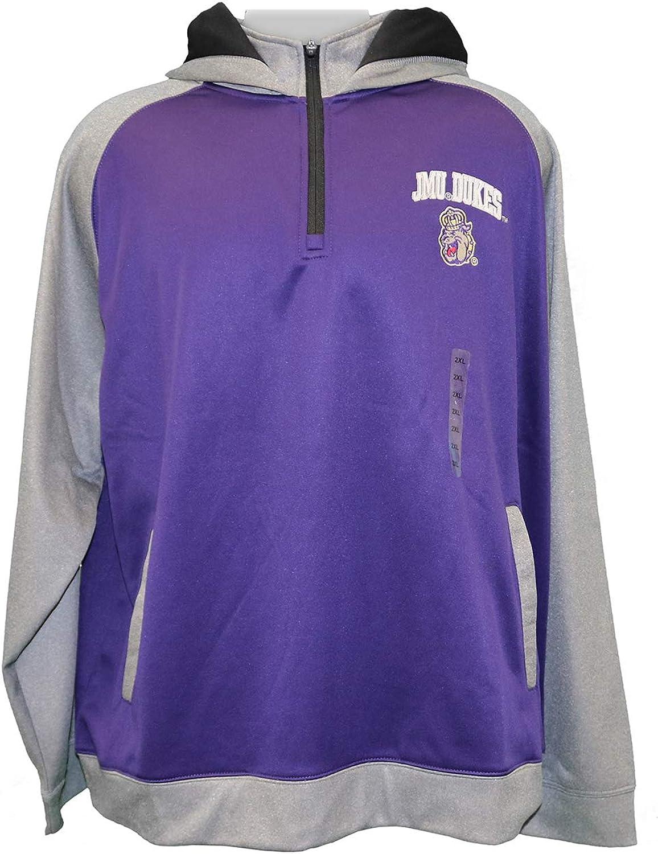 ChampionUSA NCAA James Madison University Mens JMU Dukes 1 4 Zip Fleece Hoody