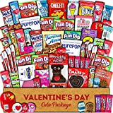 Valentine's Day Care Package (60ct) - Snacks, Chocolates, Candy Gift Box - Assortment Variety Bundle Present...