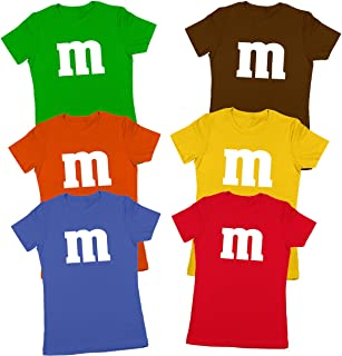 M Chocolate Candy Halloween Costume Outfit Funny Group Cool Party Womens Shirt