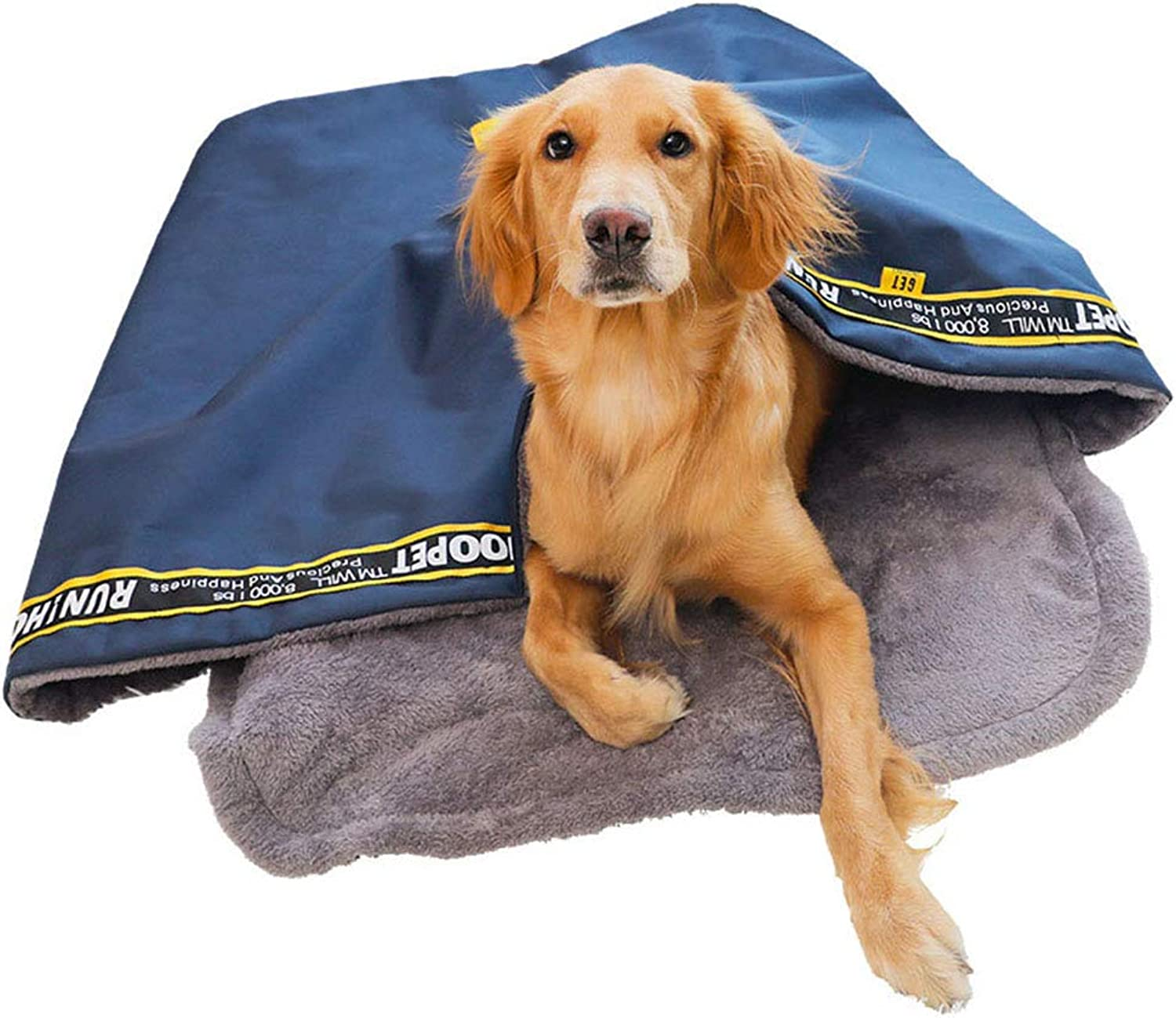 Dog Sleeping Bag Windproof Waterproof Dog Bed Pocket Bed for Cats and Small Dogs Oxford Cloth Washable Super Soft Comfort Dog Tent Bed,L