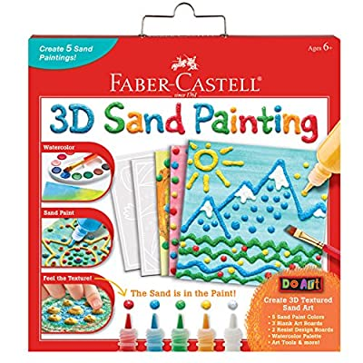 Faber-Castell 3D Sand Painting - Textured Sand Art Activity Kit for Kids by Faber-Castell