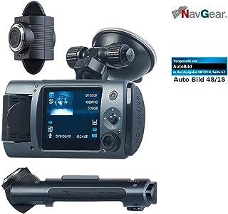 NavGear Dashcam mit Zwei Kameras: Full HD Dashcam mit 2 Objektiven, 150° Ultra Weitwinkel, Marken Sensor (Dual Dashcam)