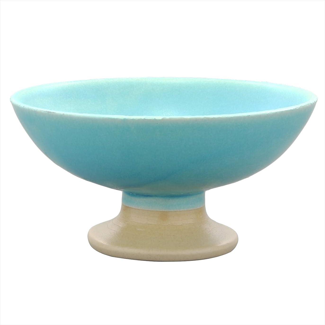 ケーブルシャープのれんイチキュウ(Ichikyu) 小鉢 水色 11.7cm 美濃焼 高台 鉢 青釉