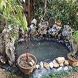 XWZJY Flexible vorgeschnittene Fischteichbettwäsche wasserdichte Landschaftsgestaltung Film Teichfolie Schutzunterlage für Wassergarten Koi Teiche Bäche Brunnen
