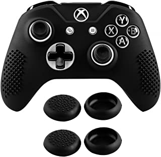 eXtremeRate Soft Anti-Slip Silicone Case Cover Thumb Stick Grip Caps Protector Skins for Microsoft Xbox One S/Xbox One X C...