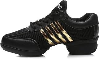 Mujer Zapatos de Jazz Zapatos de Baile Moderno Zapatos Deportivos Zapatillas de Baile Dance Sneakers T08