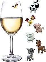Barnyard Animal Wine Charms Identifiers