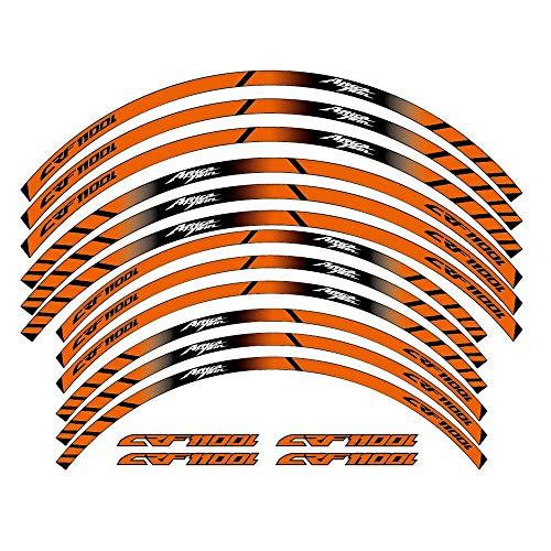 12 PCS Ruedas de Motocicleta Pegatinas Stripe Moto Protección Reflectante Rim Llaminadores de Llantas para Honda CRF1100L Twin CRF 1100L Completo Cinta (Color : 5)