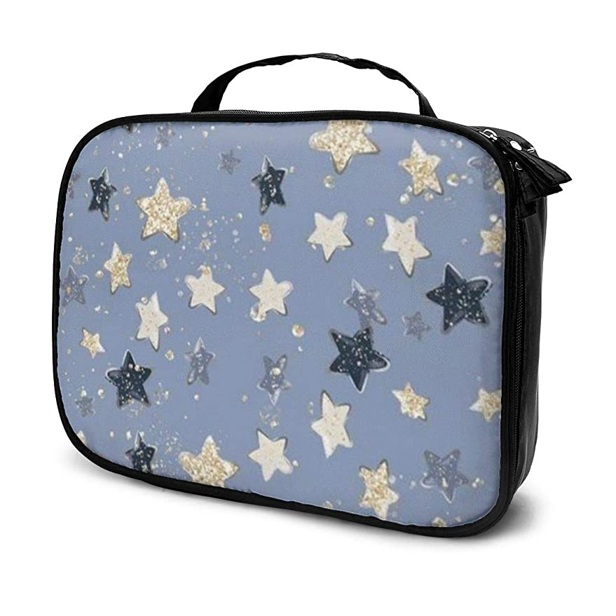 青写真不定赤道Daitu美しい星 化粧品袋の女性旅行バッグ収納大容量防水アクセサリー旅行