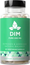 DIM Supplement Pure 200 MG – Energy Fatigue & Stress Relief, Estrogen Balance, Menopause & Hot Flashes, Hormonal Support for Women – Enhanced Bioavailability BioPerine – 60 Vegetarian Soft Capsules
