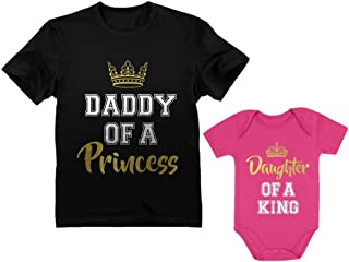 Father & Daughter Matching Set Gift for Dad & Baby Girl Bodysuit & Men`s Shirt