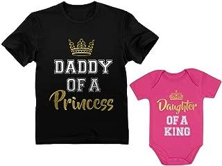 Father & Daughter Matching Set Gift for Dad & Baby Girl Bodysuit & Men's Shirt