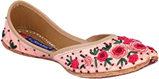MSC Leather Ethnic Pink Flat Bellie for Women