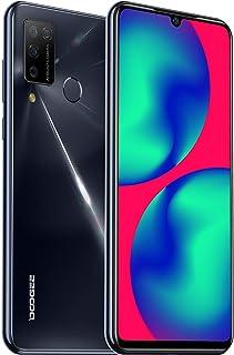 DOOGEE N20 Pro Móviles Libres, 4G Android 10 6GB+128GB Smartphone, Helio P60 Teléfono Móvil 6.3 Inch FHD+, Cámara Trasera Cuádruple 16MP, 4400mAh Smartphone Libre, Face ID& Huellas Dactilares-Negro