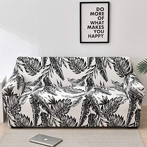 ASCV Fundas de sofá Florales para Sala de Estar Funda elástica para sofá Fundas para sofá Fundas para sofá Toalla para sofá Fundas sofás con Chaise Longue A3 2 plazas