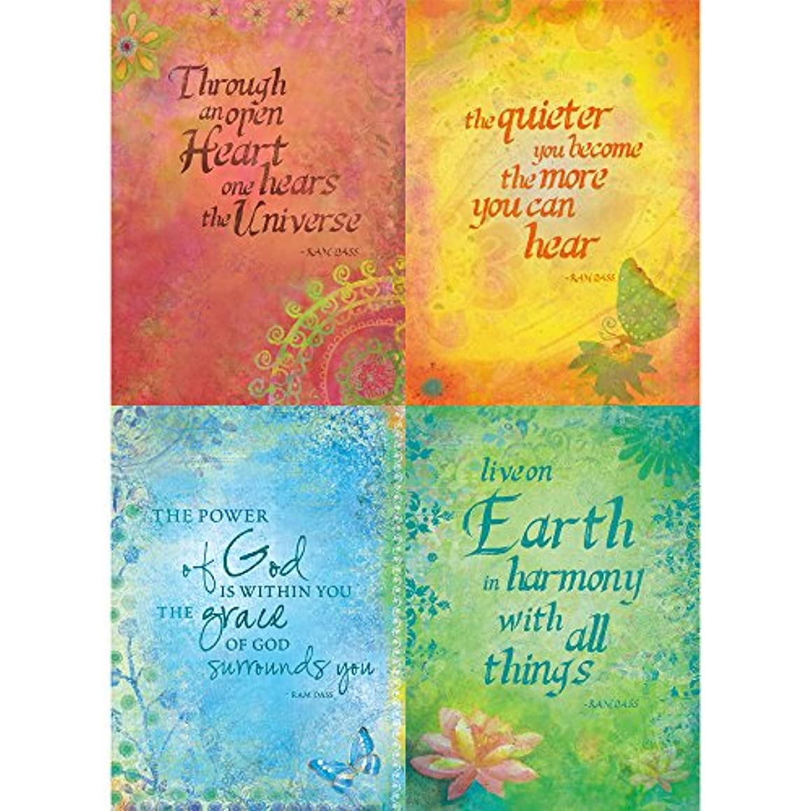 Tree-Free Greetings Ram Dass All Occasion Card Assortment, 5 x 7 Inches, 8 Cards and Envelopes per Set (GA31405)