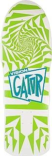 Vision Skateboards Mark Gator Rogowski Gator II Modern Concave White/Green Old School Skateboard Deck - 10.2