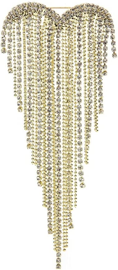 GYZX Heart Tassels Max 56% OFF Brooches for Rhinestone Women Wedding 2-Color Ranking TOP9