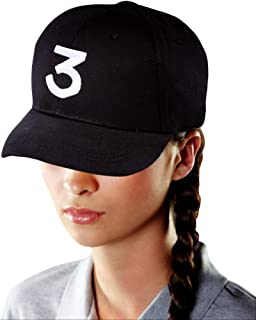Chance The Rapper 3 Baseball Cap Embroidered Number 3 Cool Rapper Hat for Hip Hop, Low Profile Plain