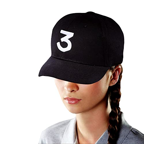9acb1e097a5 YaMeiDa Chance The Rapper 3 Baseball Cap Embroidered Number 3 Cool Rapper  Hat for Hip Hop