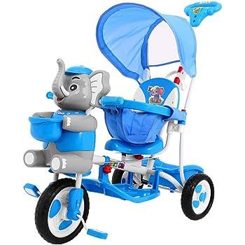 Tricycle Enfant - Vélo 3 Roues pour Enfant, Tricycle Bébé Evolutif - éléphanth - Bleu