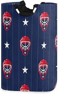 DOMIKING Panier à linge pliable - Panier à linge de sport de hockey pour chambre d'enfant en tissu sale avec poignée