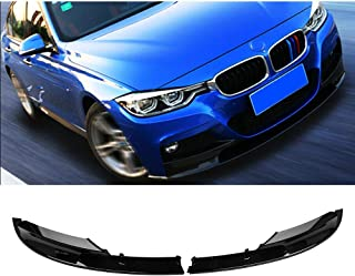 MotorFansClub Front Bumper Lip Splitter for 2012-2018 BMW F30 3 Series M Style Trim Protection Splitter Spoiler, Black