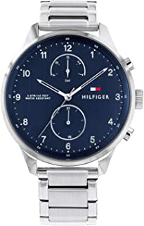 Tommy Hilfiger Men'S Blue Dial Stainless Steel Watch - 1791575
